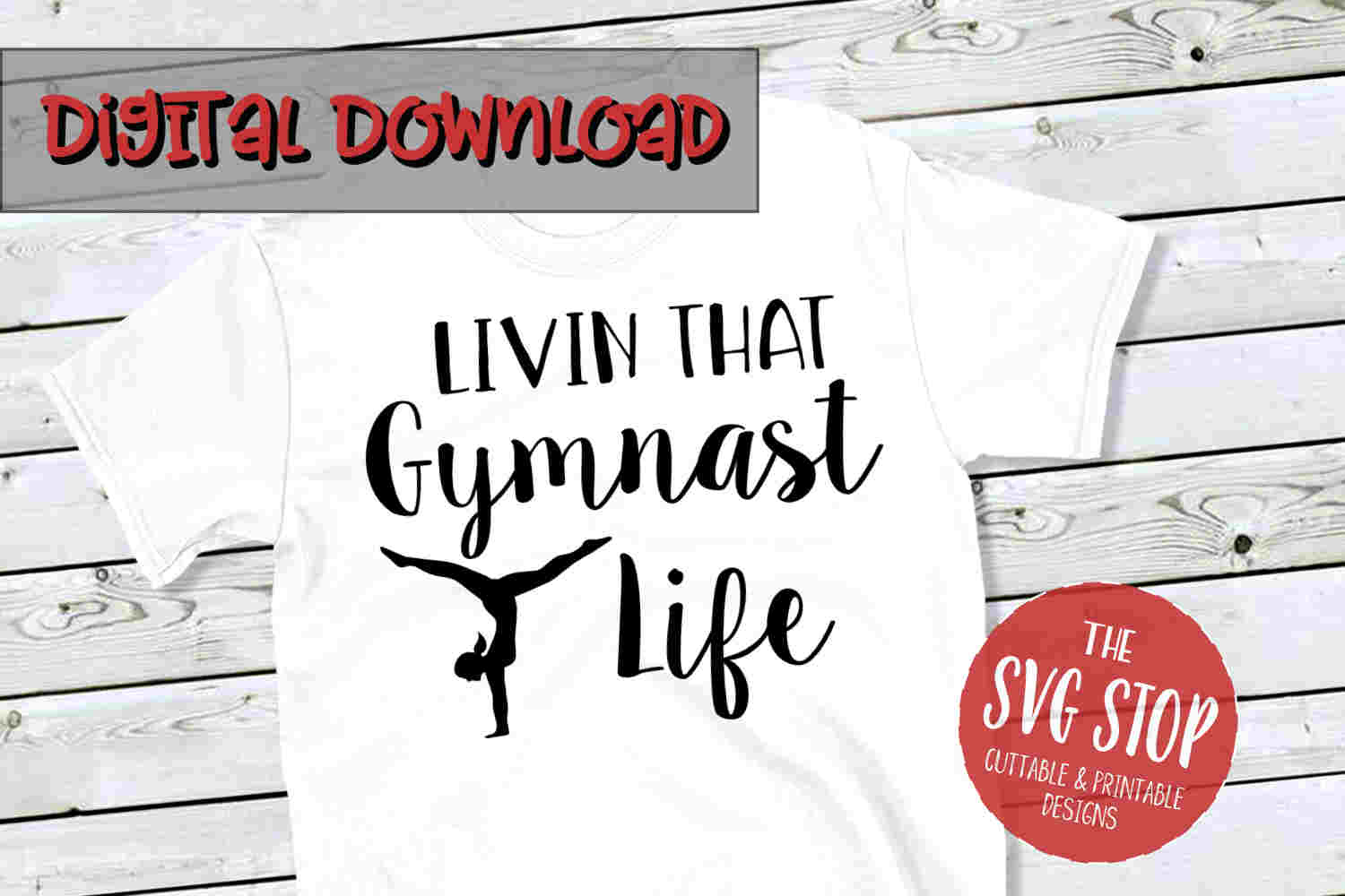 Gymnast Life -SVG, PNG, DXF example image 1