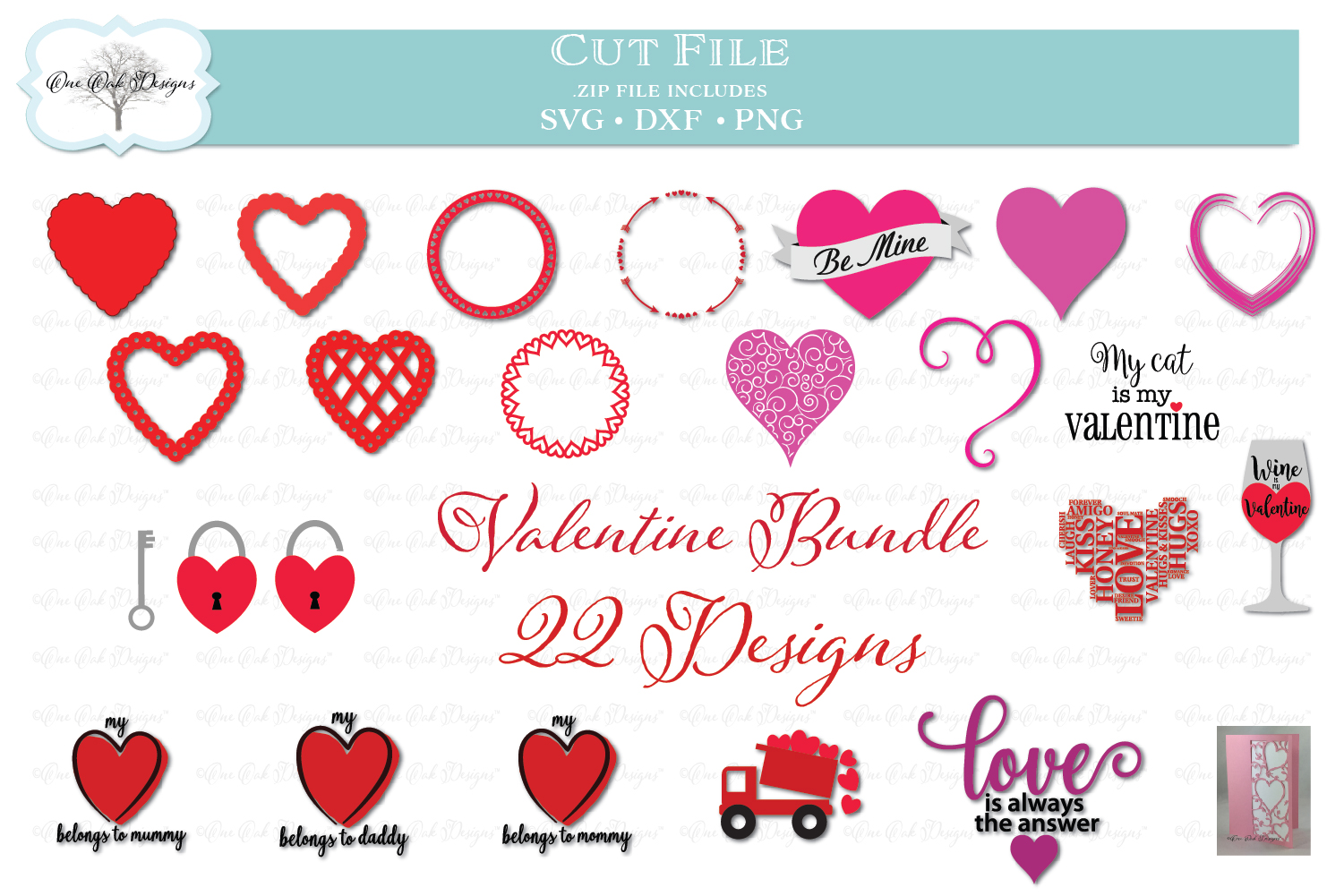 Valentine's Day Bundle -- 22 Designs! example image 1