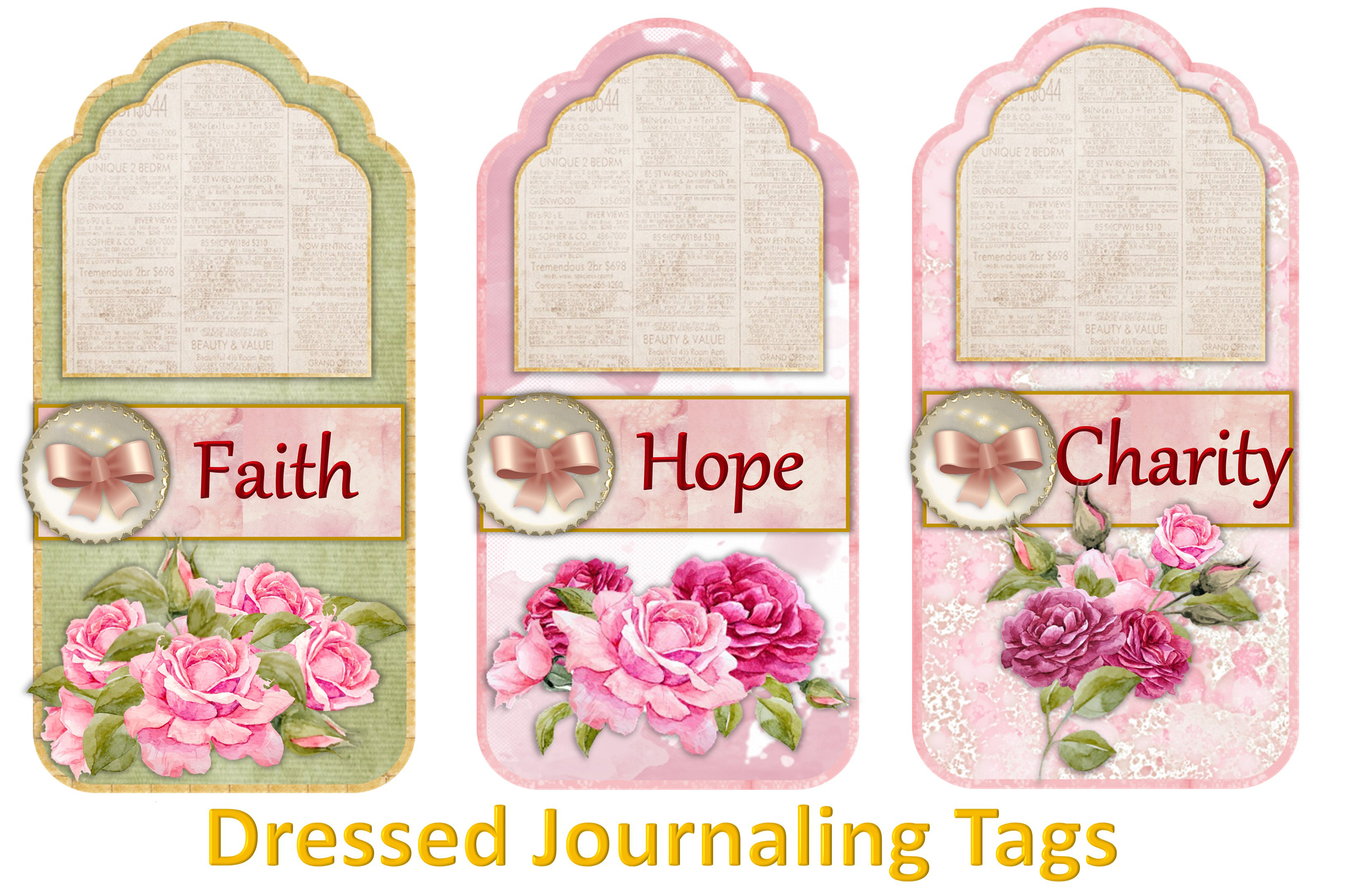 Printable Journaling Kit Romance and lace JPEG PDF PNG example image 8