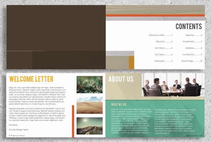 22 Page Corporate Annual Report Brochure Booklet example image 2