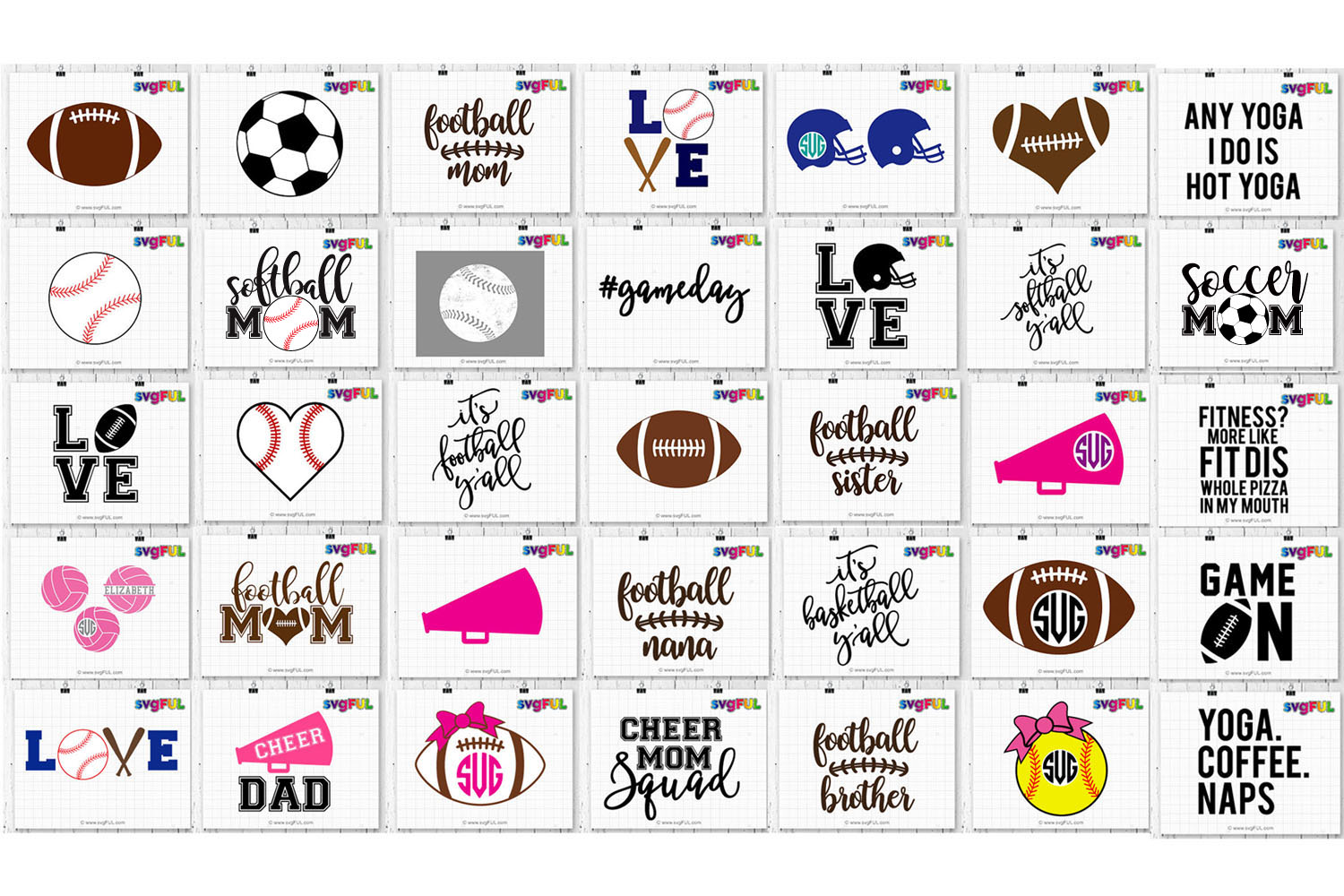 Sports Craft Bundle Svg Clipart Dxf Printables example image 2