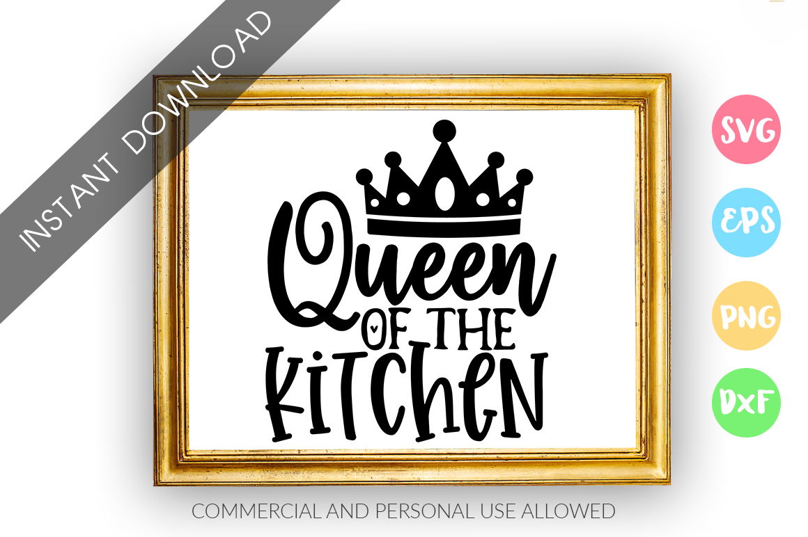 Queen of the kitchen SVG Design example image 1