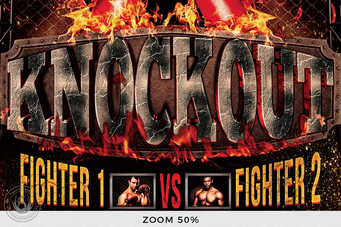 Fight Night Flyer Bundle example image 10
