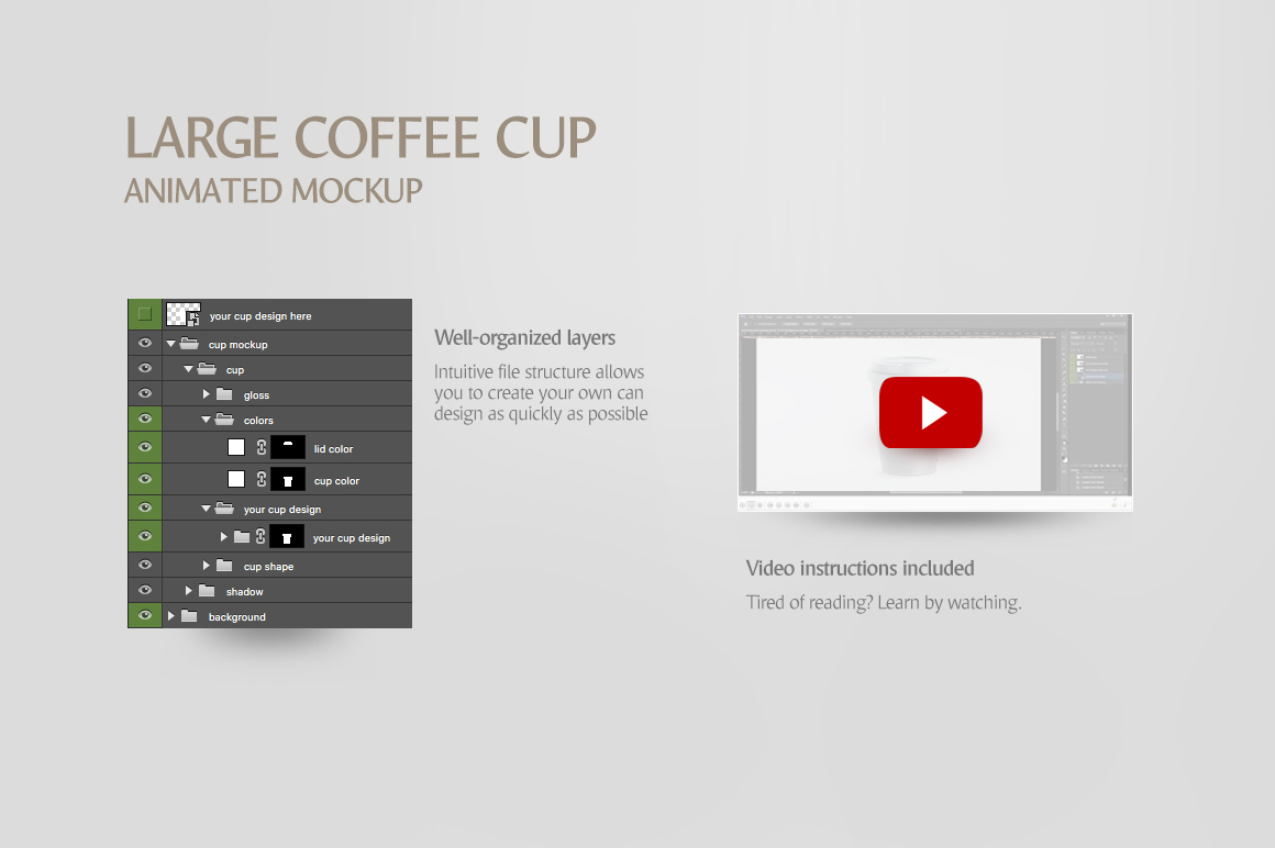 Large Coffee Cup Animated Mockup example image 9