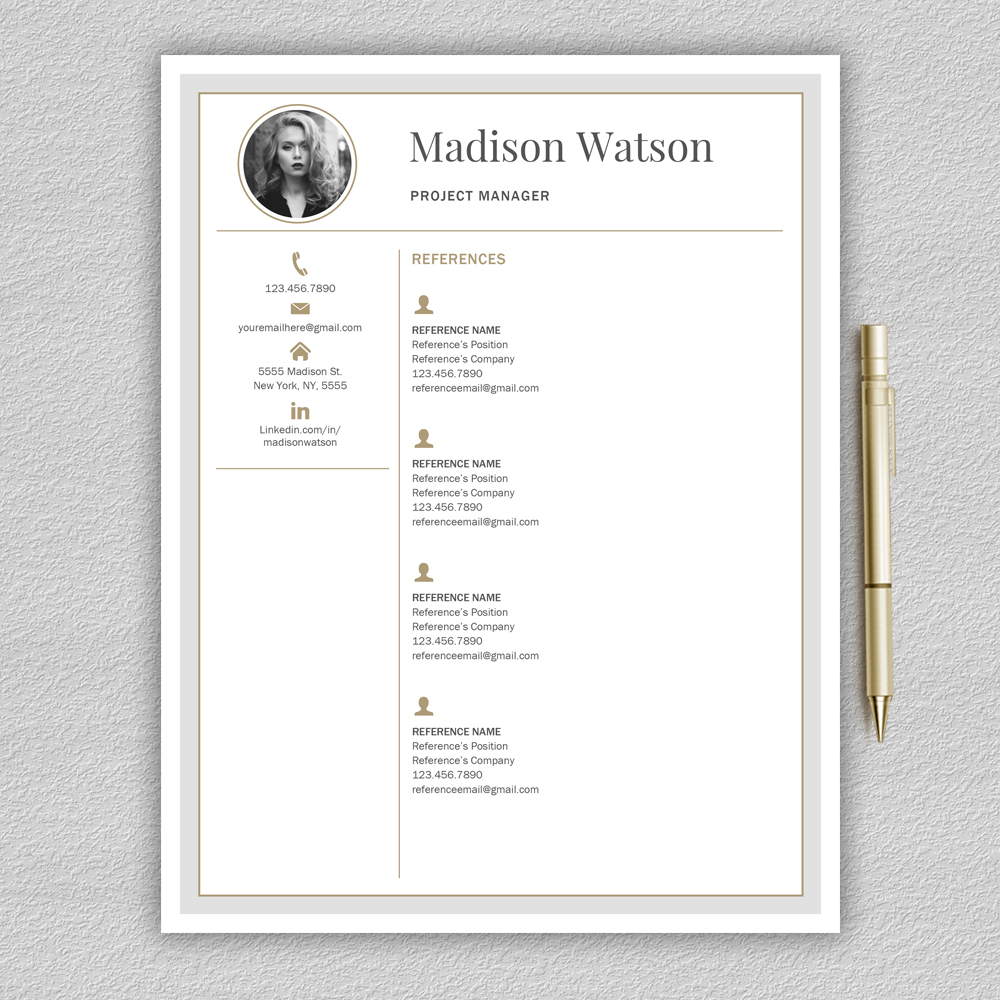 Professional Resume Template / CV Template / Resume for Word with Cover Letter example image 6