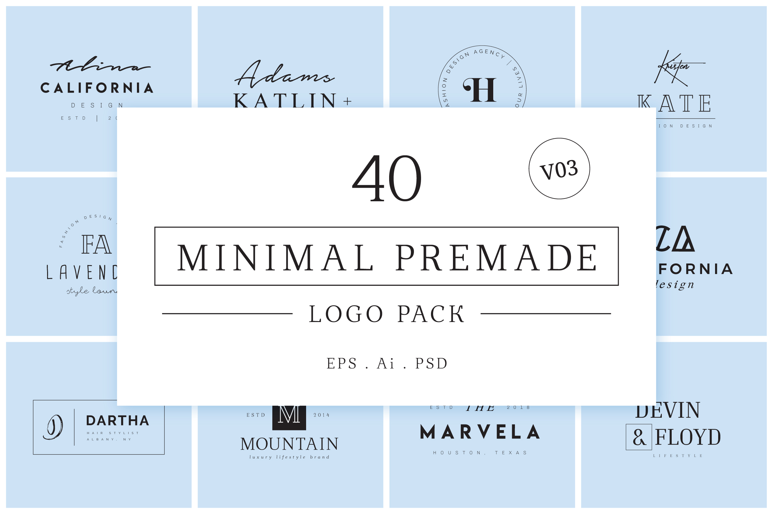 200 Minimal Premade Logo Bundle example image 13