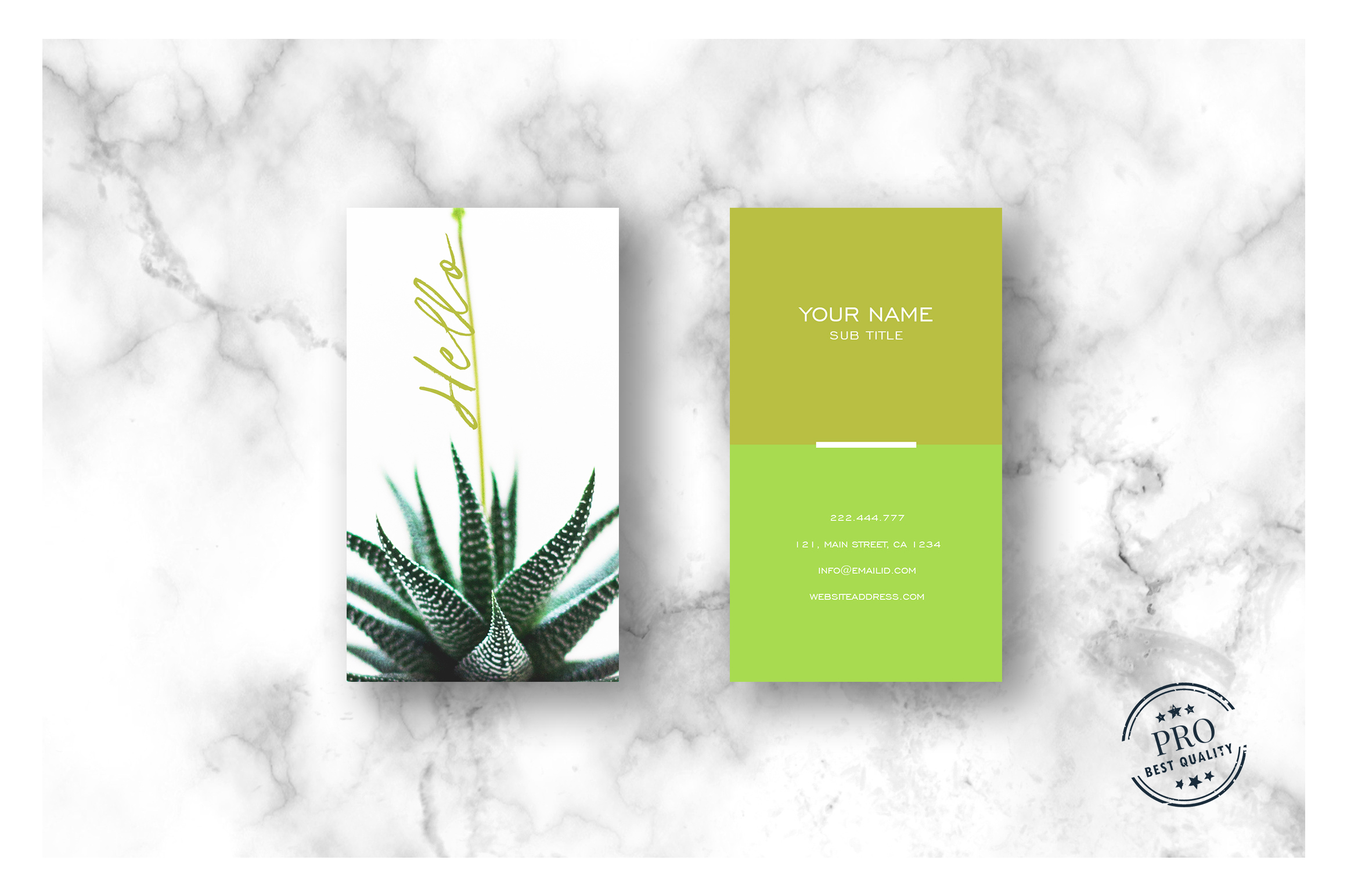 Green Natural colors business card example image 3