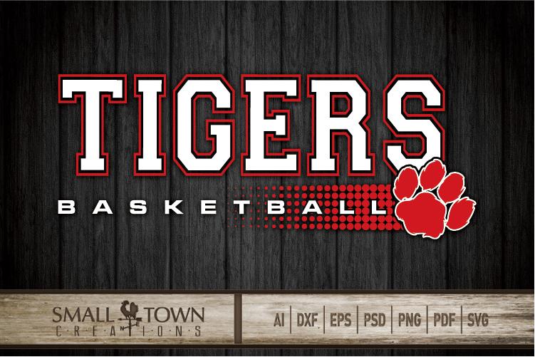 Tigers basketball, tiger mascot, team, PRINT, CUT, DESIGN example image 20