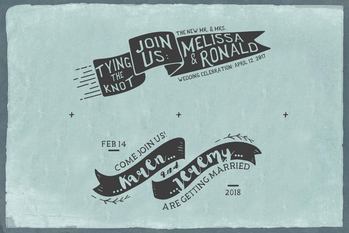 Rustic Wedding Badges & Sticker example image 4