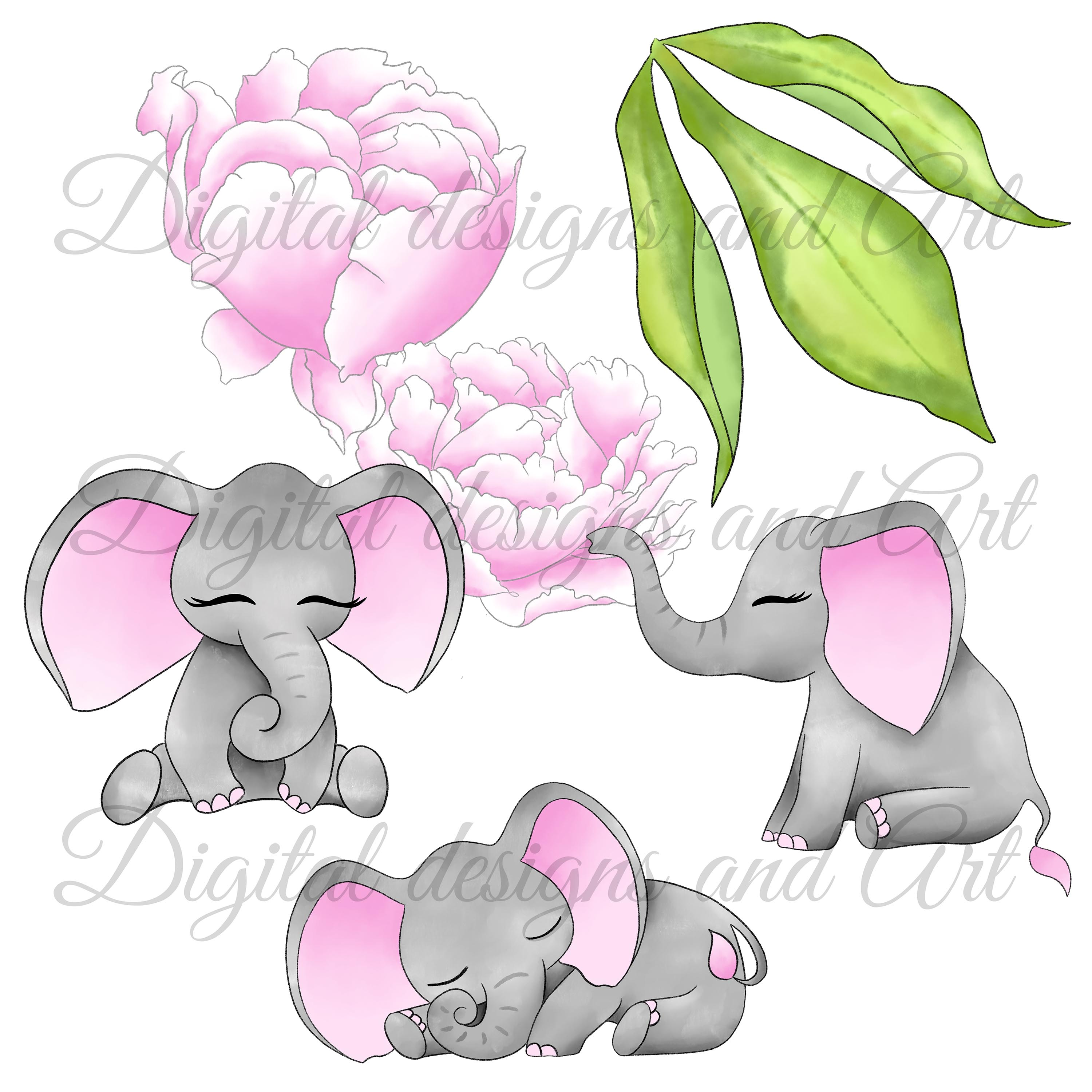 Baby elephant in pink example image 6
