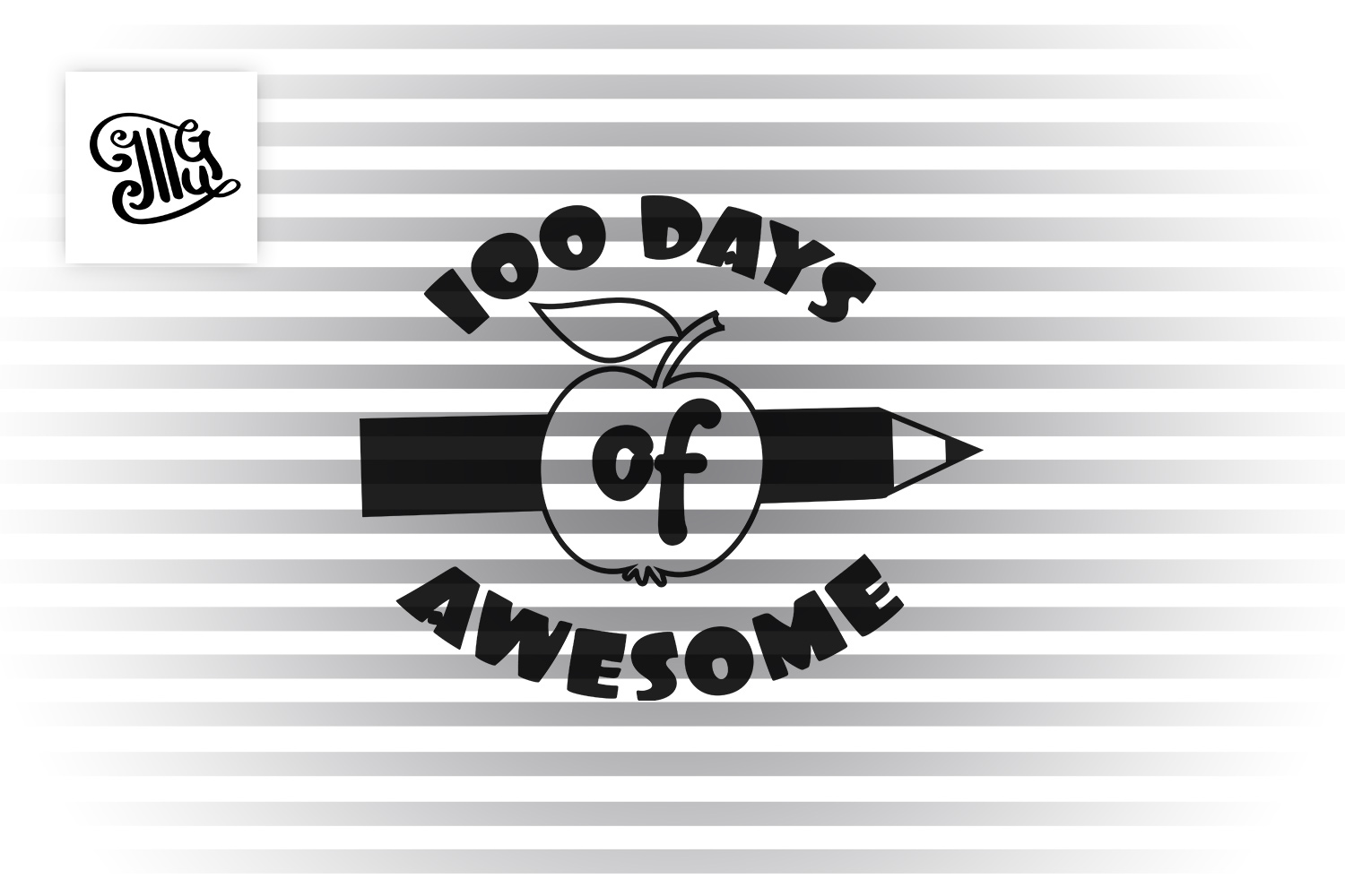 100 days of awesome svg example image 2