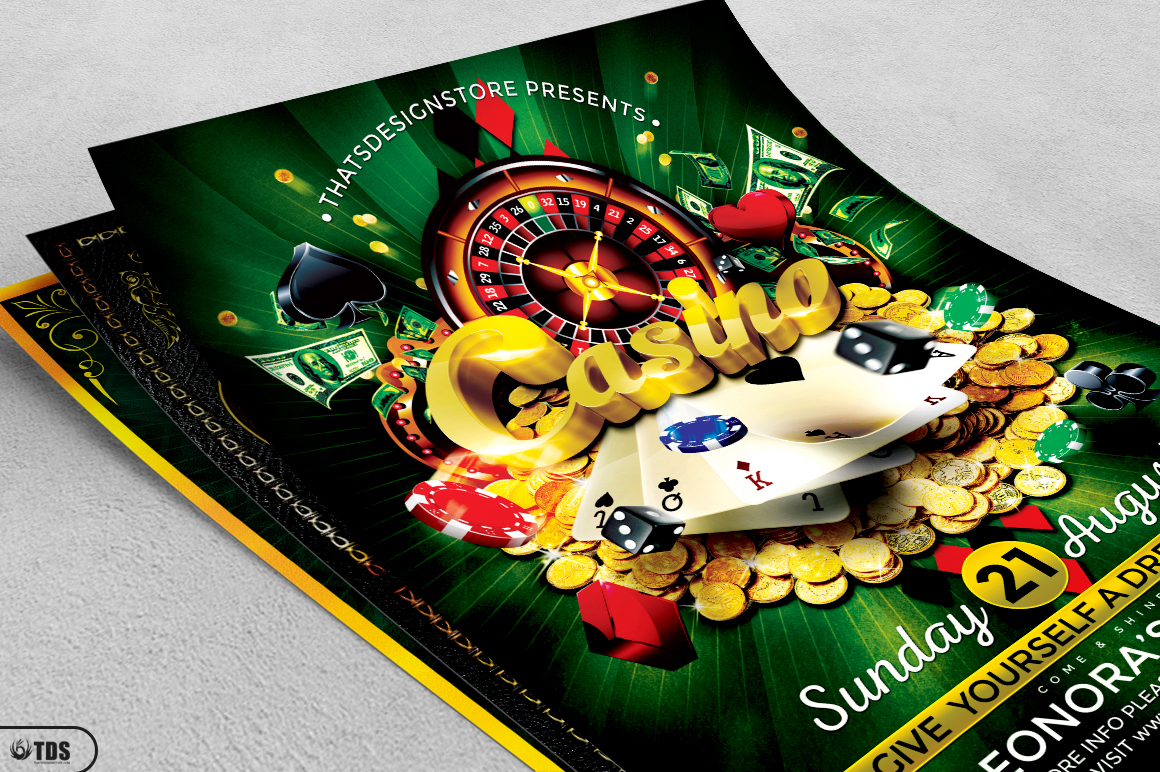 Poker and Casino Flyer Bundle example image 4