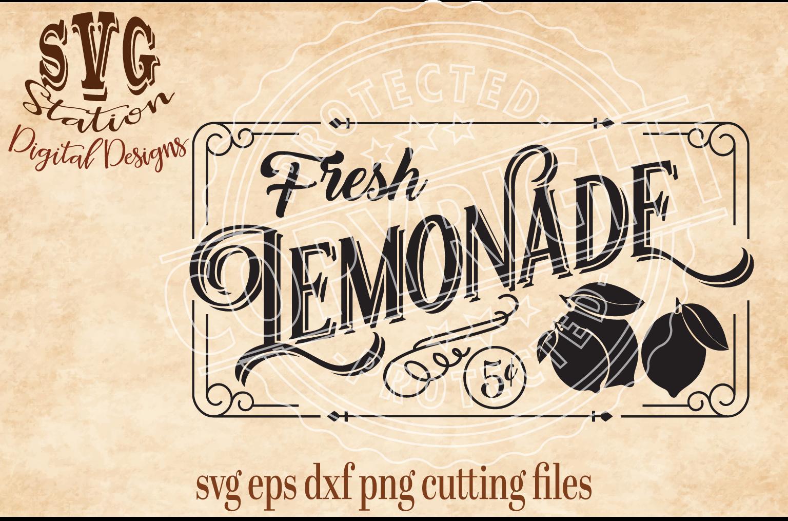 Vintage Lemonade Cut File example image 1