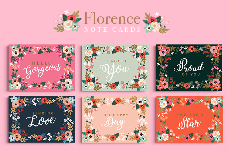 Florence Note Cards example image 1
