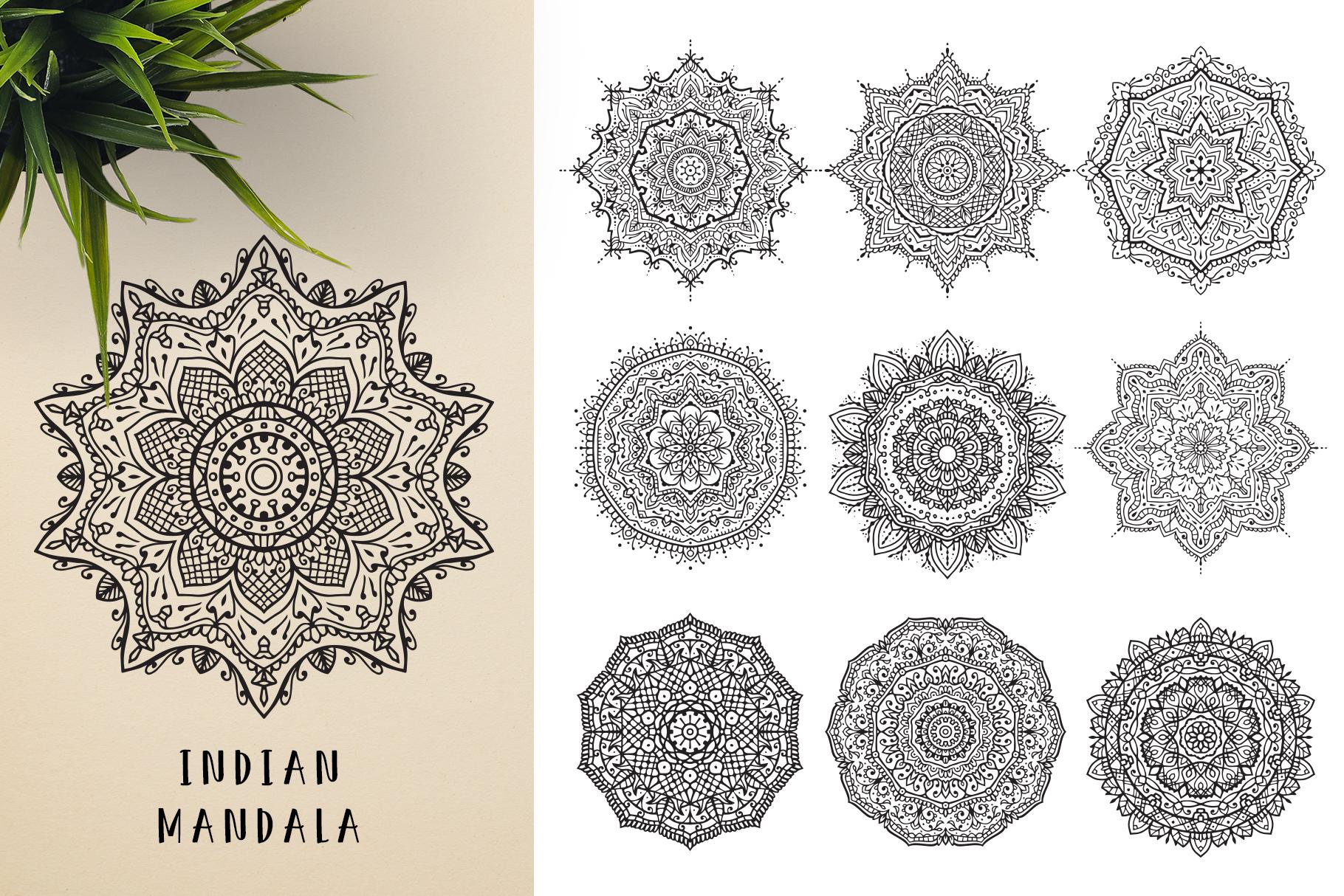 300 Vector Mandala Ornaments example image 10