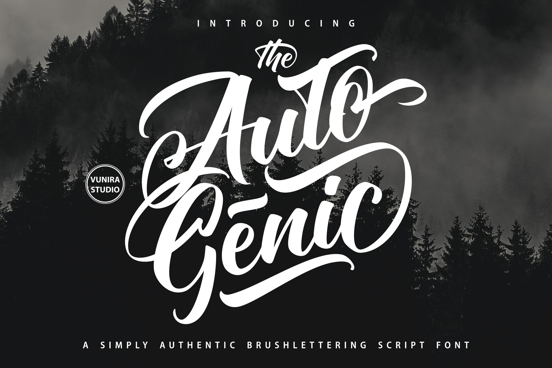 Autogenic   Brush Lettring Font example image 1