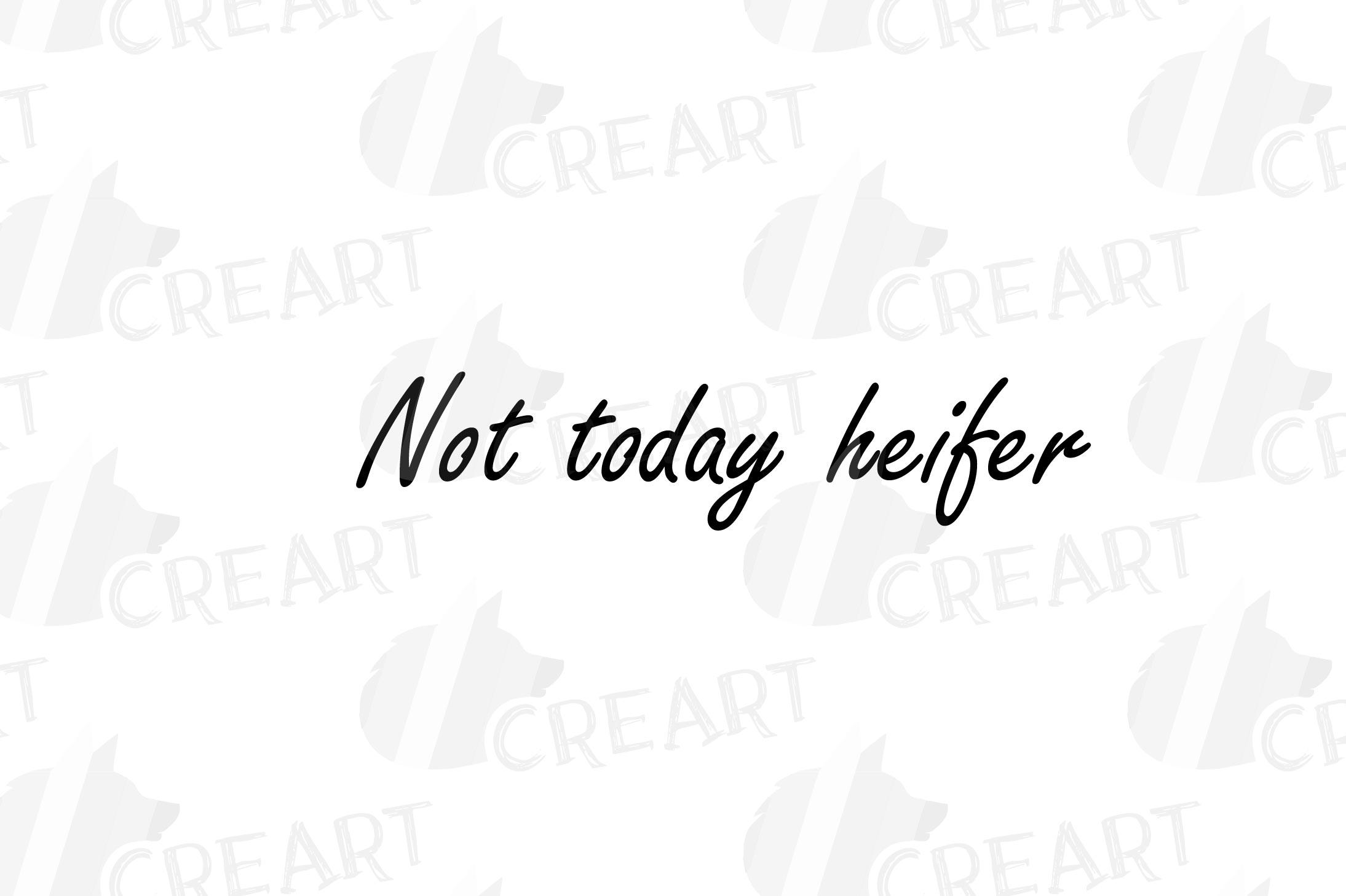Not today Heifer printable shirt, mug, card floral cow png example image 17