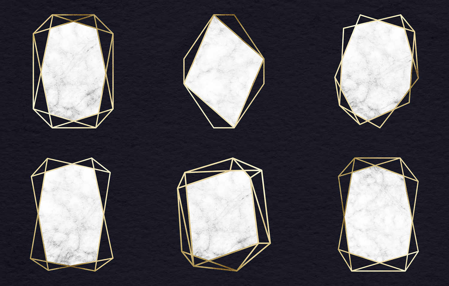 Marble And Gold Frames Clipart example image 3
