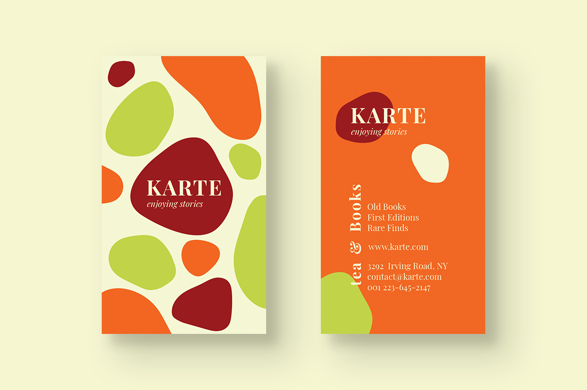 Bookstore Business Card example image 2