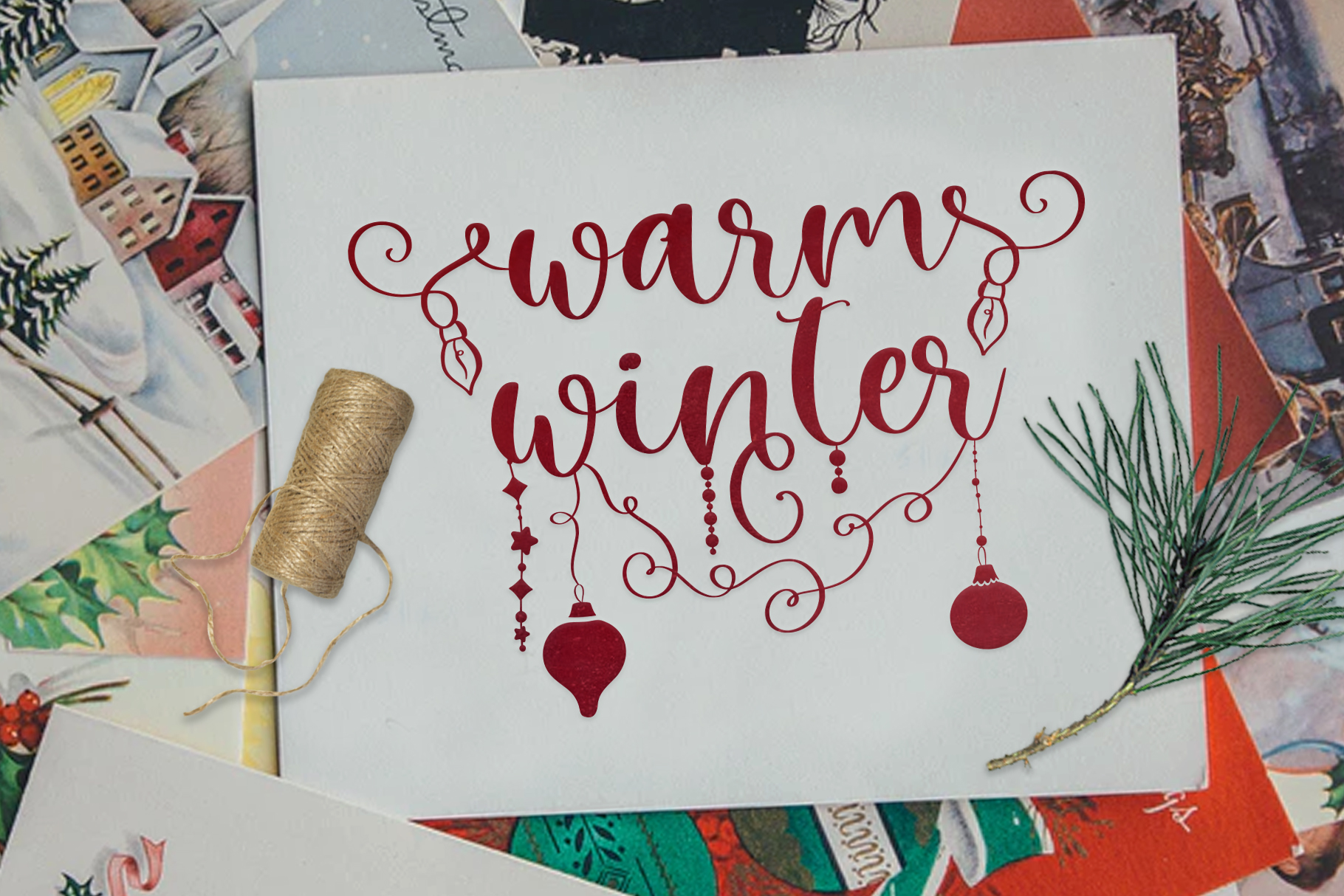 Winter Time. Decorative Script Font example image 5