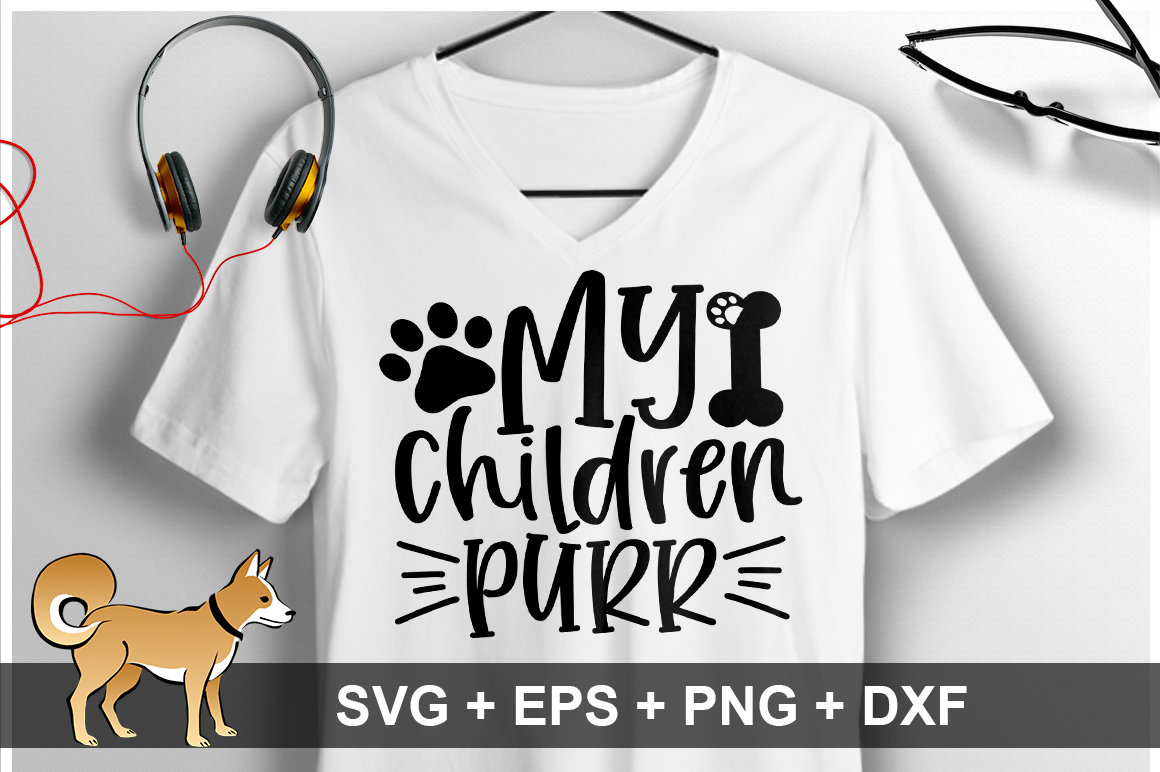 My Children Purr SVG Design example image 1