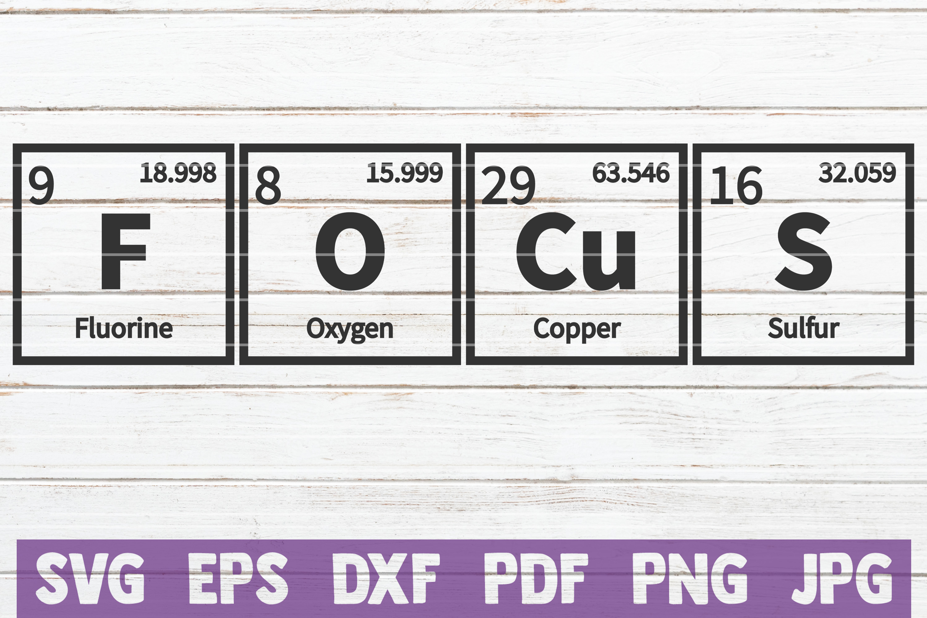 Focus Periodic Table SVG Cut File | commercial use example image 1