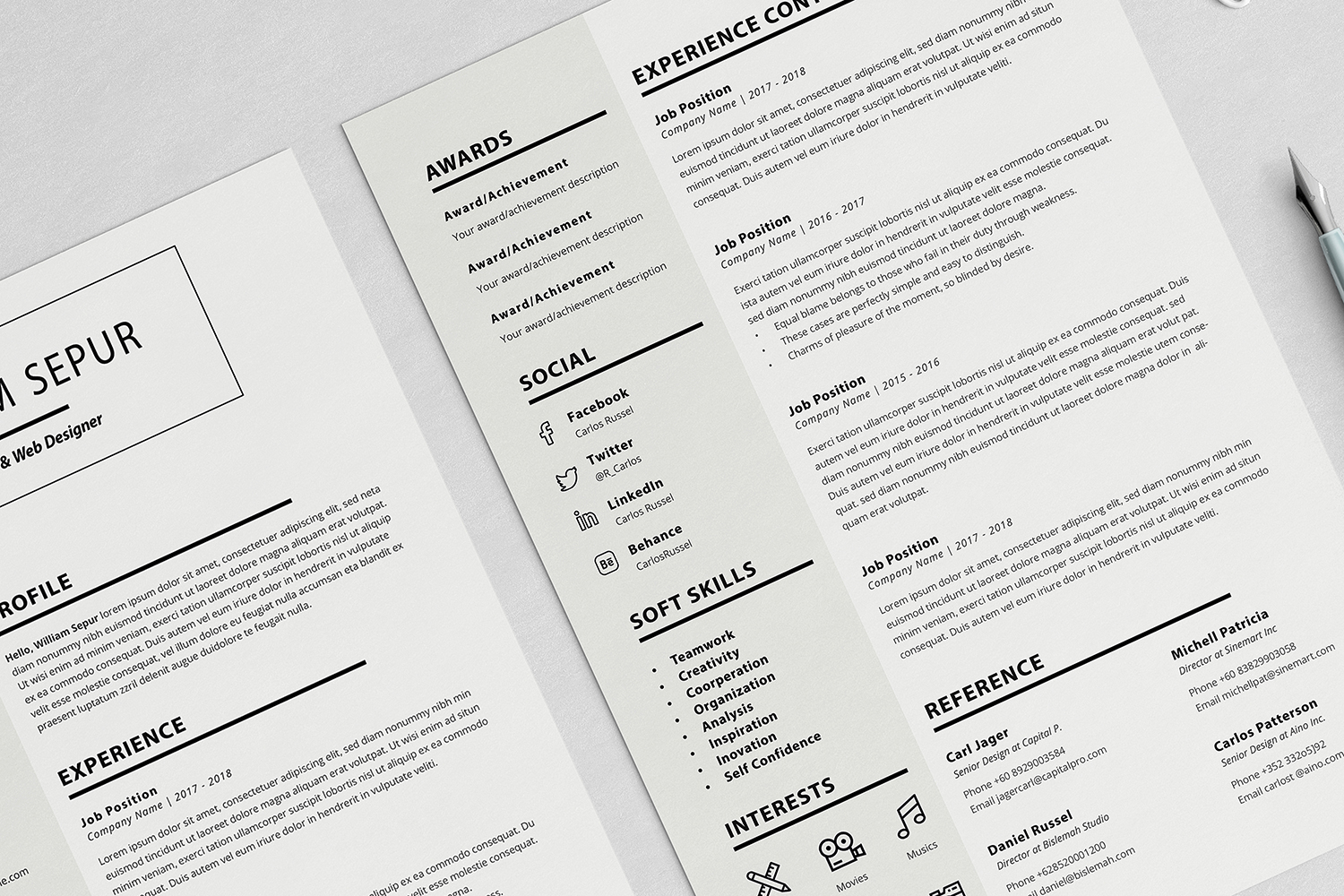 William Resume with Cover Letter Professional Template example image 4