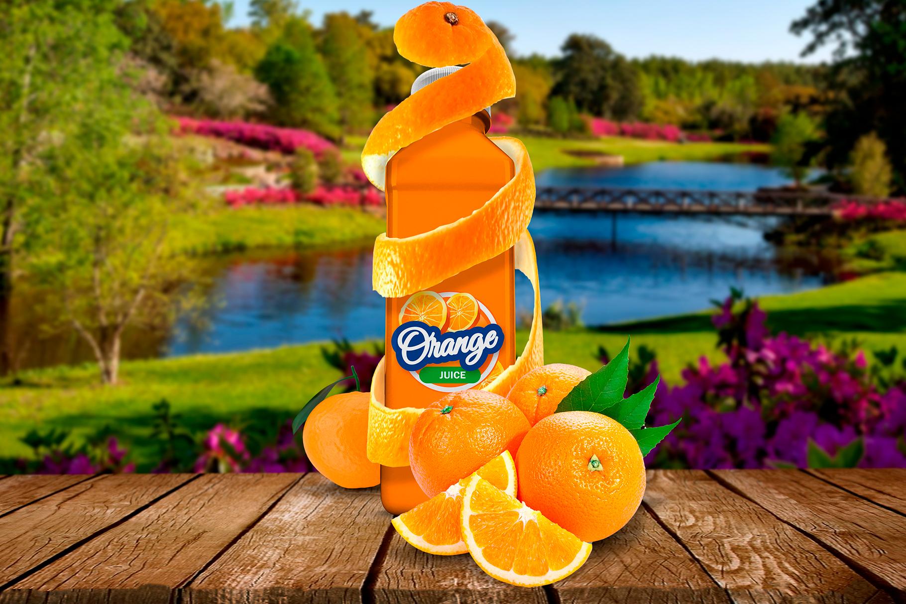 Bottle Juice Mockup Advertising example image 6