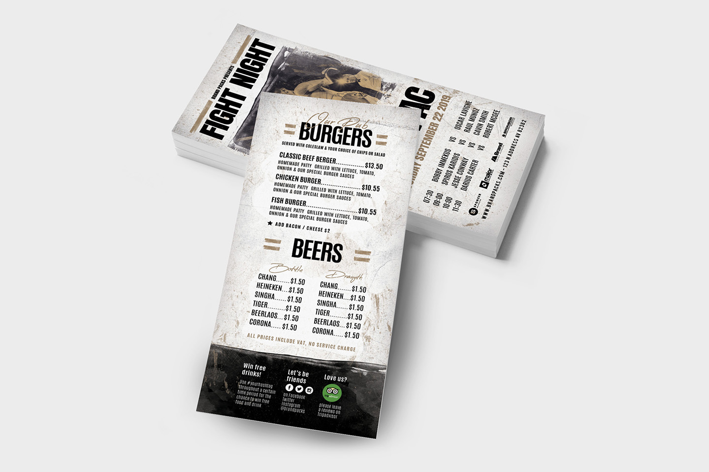 Fight Night Flyer Template example image 7