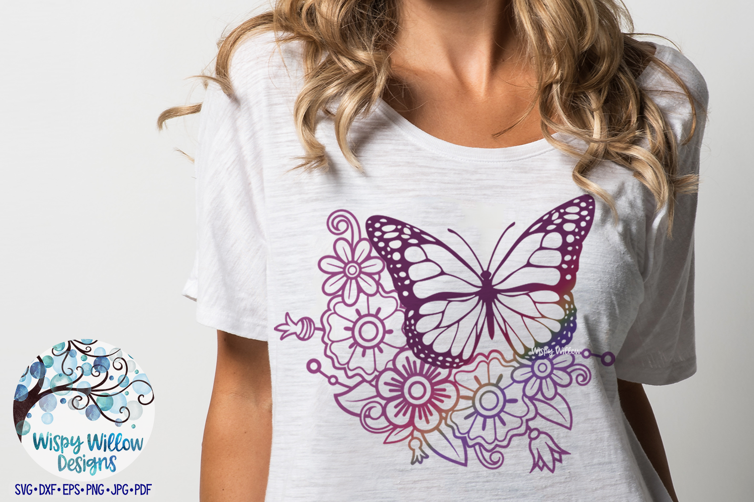 Floral Butterfly Bundle SVG |Butterfly and Flowers SVG example image 2