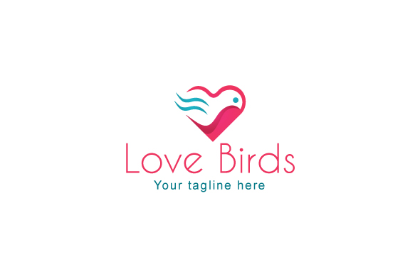 Love Bird - Abstract Creative Stock Logo Template example image 1