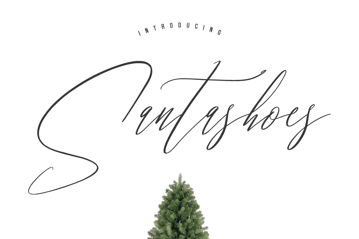 Santashoes Typeface example image 1
