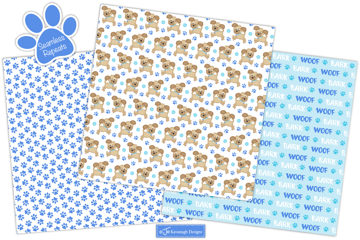 Dog Digital Papers, Dog Patterns, Puppy Dogs -P40 example image 3