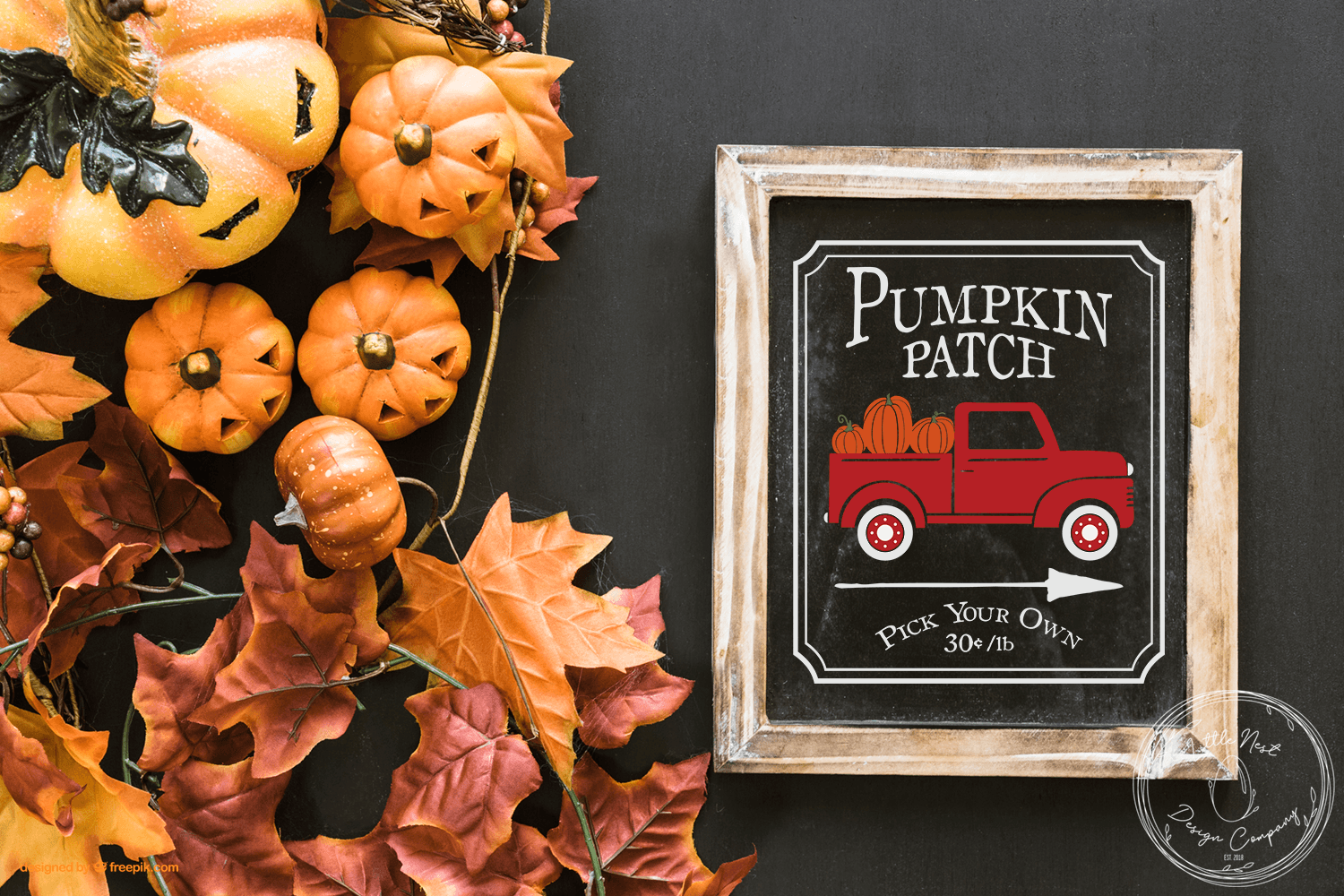 Fall Sign SVG Bundle - Farmhouse Sign Bundle example image 2
