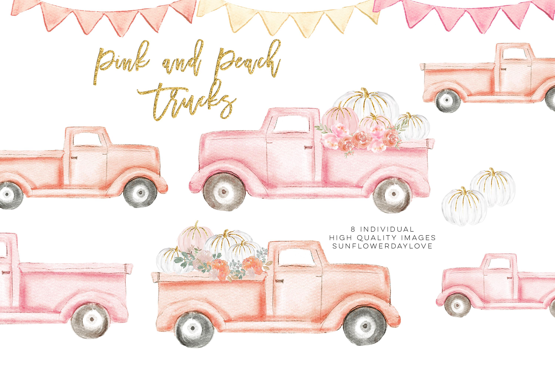 Autumn Truck, pink Pumpkin Harvest Truck example image 3