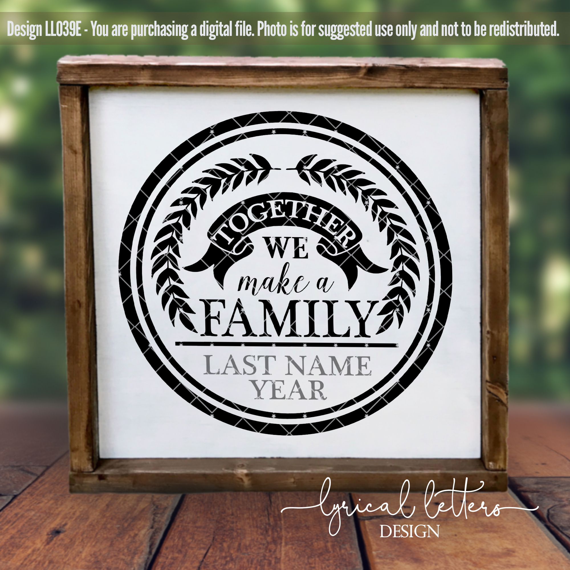 Together We Make a Family SVG Cut File LL039E example image 2