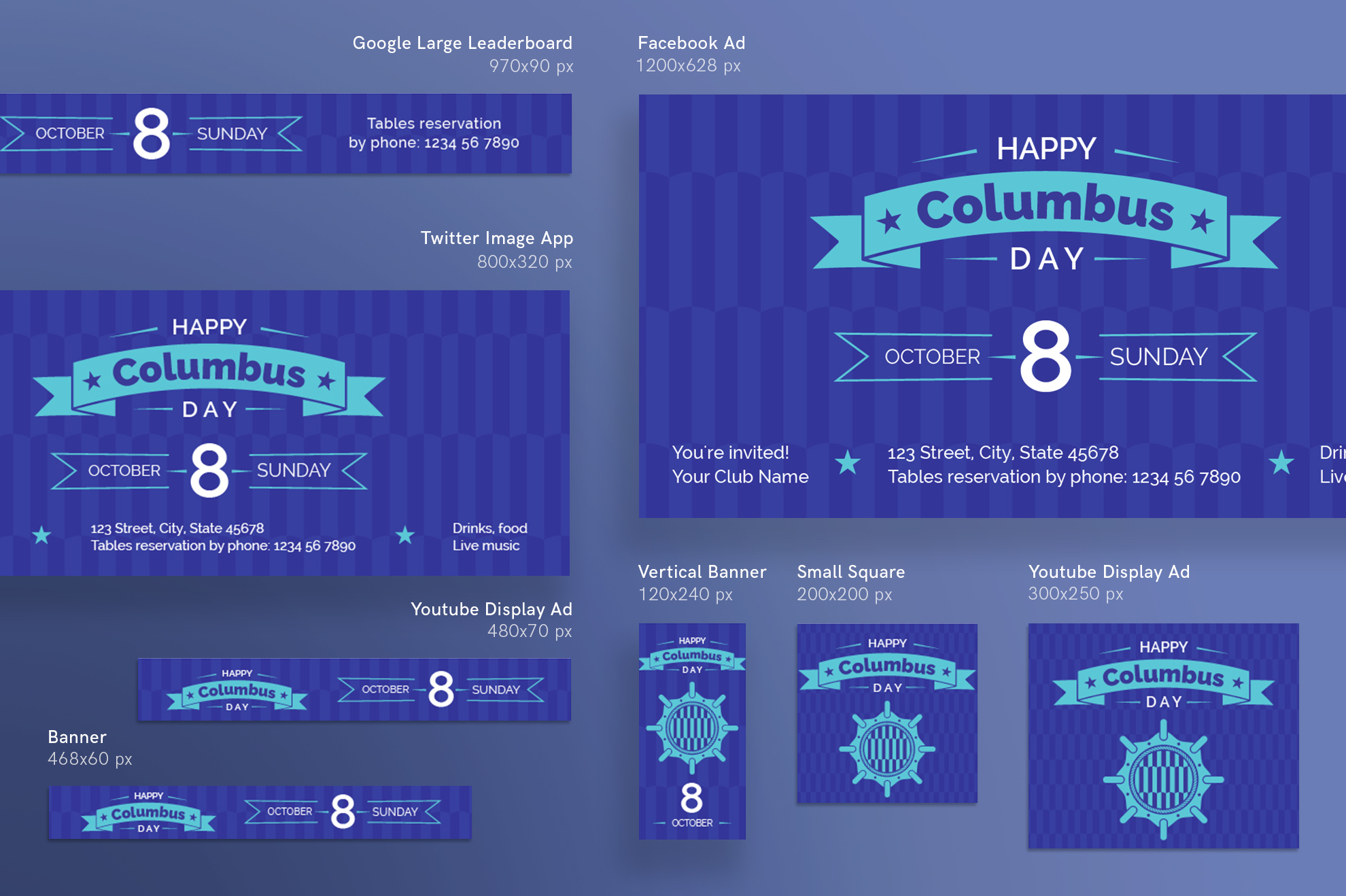 Columbus Day Party Design Templates Bundle example image 6