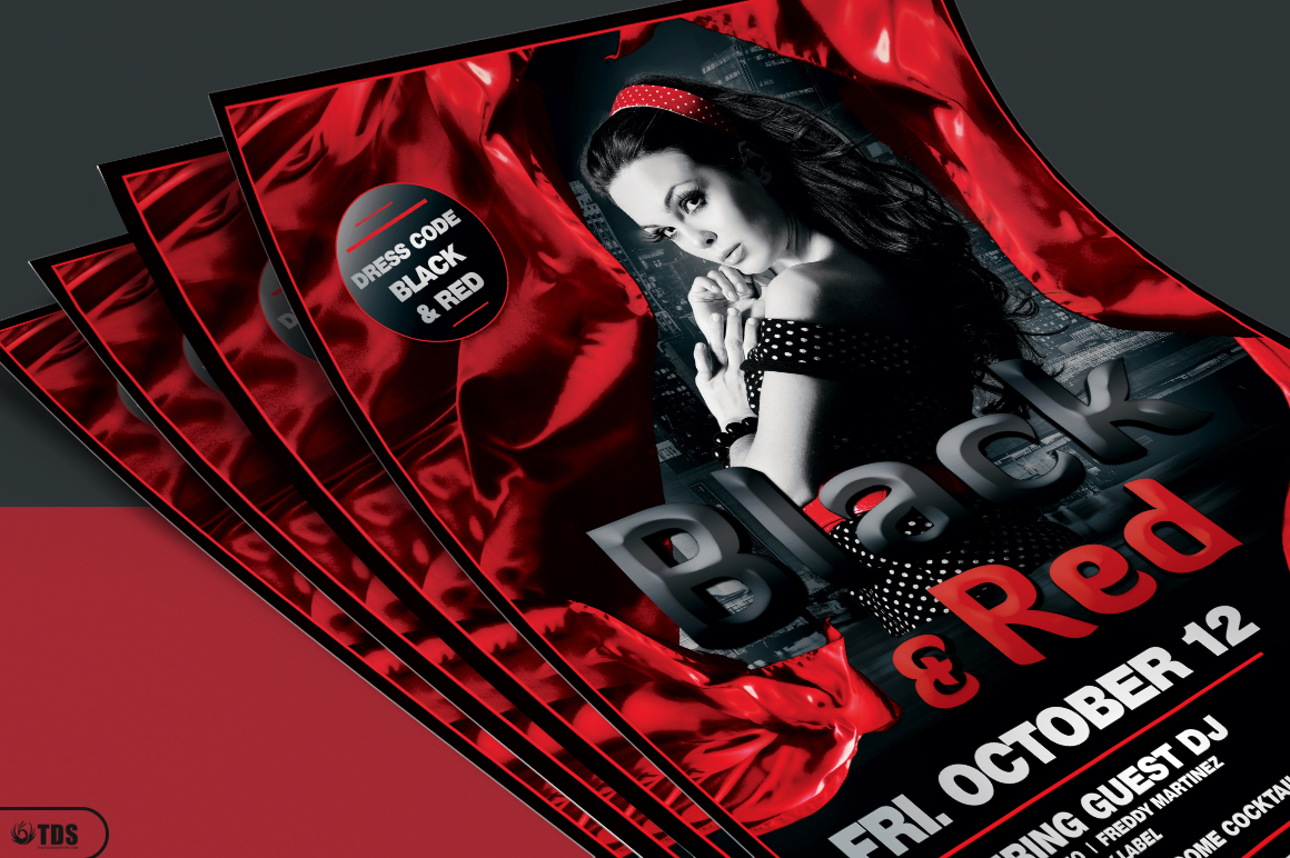 Black and Red Flyer Template V2 example image 3