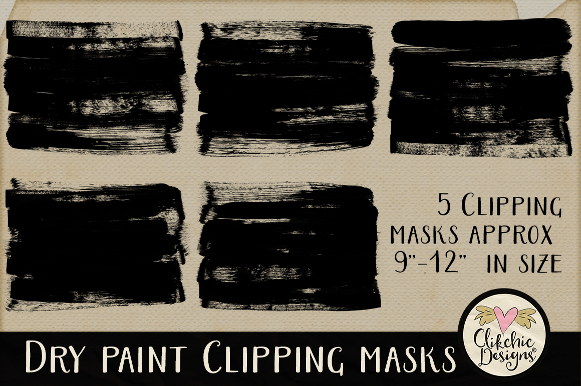 Dry Paint Photoshop Clipping Masks & Tutorial example image 6