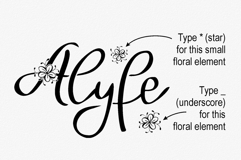 Alyfe font example image 4