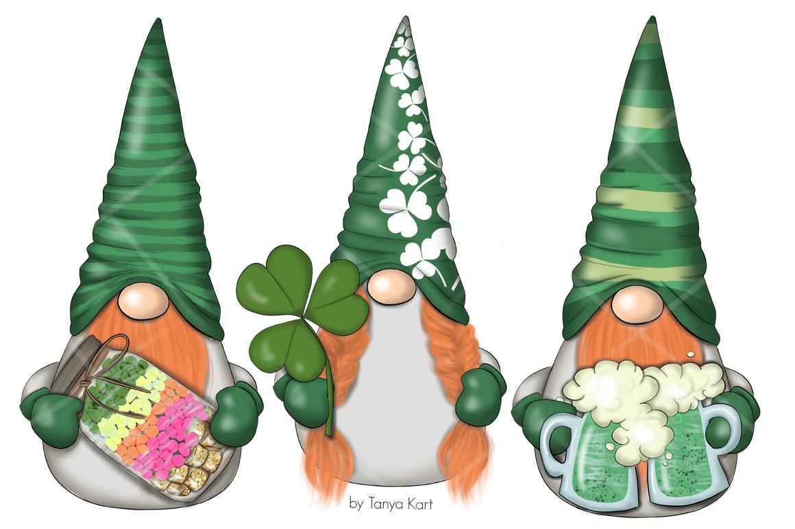 St. Patricks Gnomes Icons & Pattern example image 4