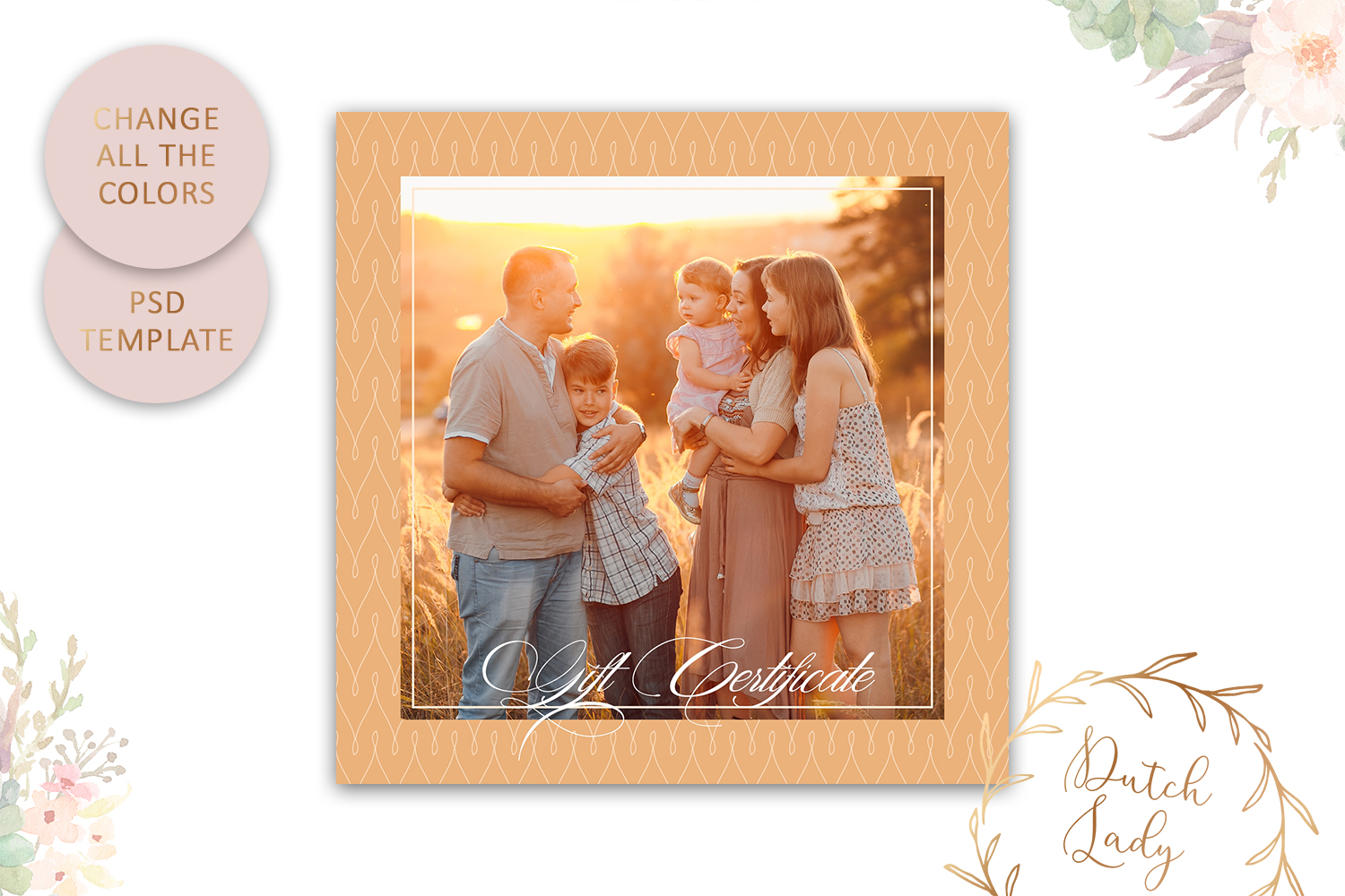 Photo Gift Card Template for Adobe Photoshop - #28 example image 4