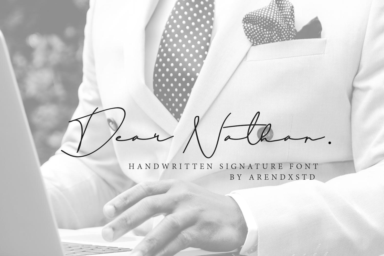 Dear Natha Handwritten Signature example image 1