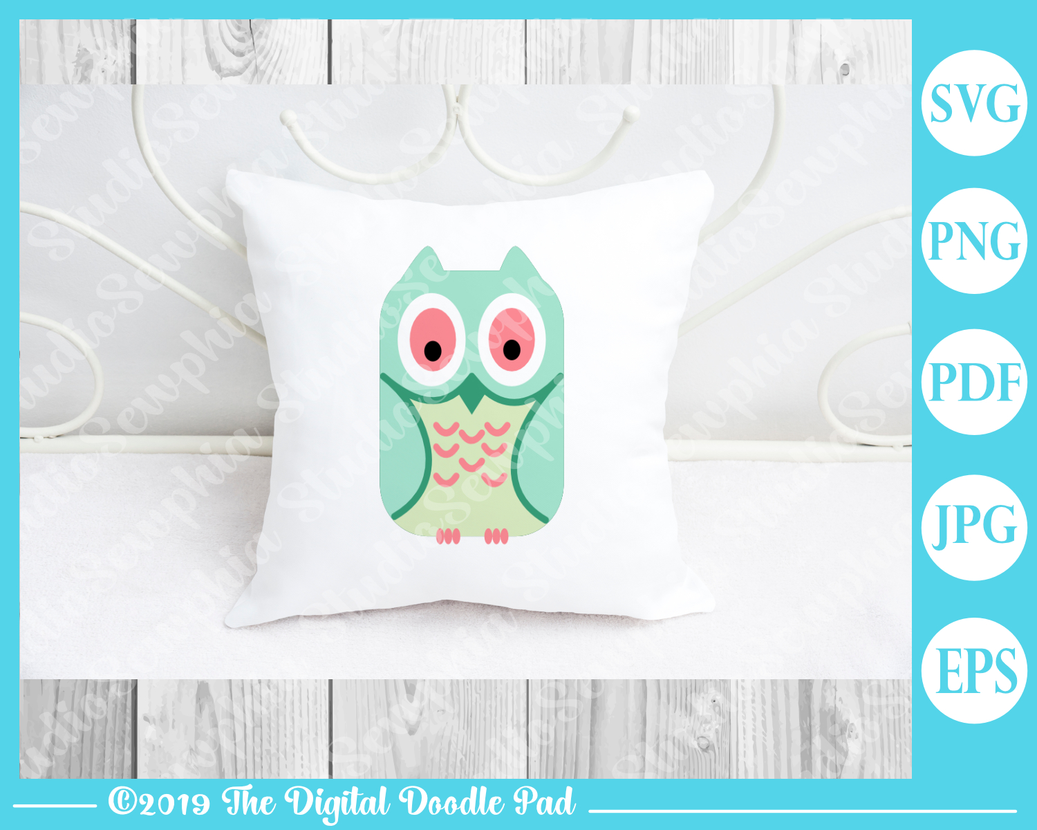 3 Owl Set by Digital Doodle Pad example image 3