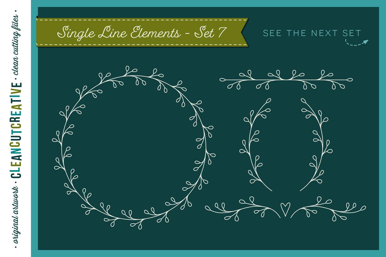 Single Line | Foil Quill | Sketch | Engrave SVG design file example image 9