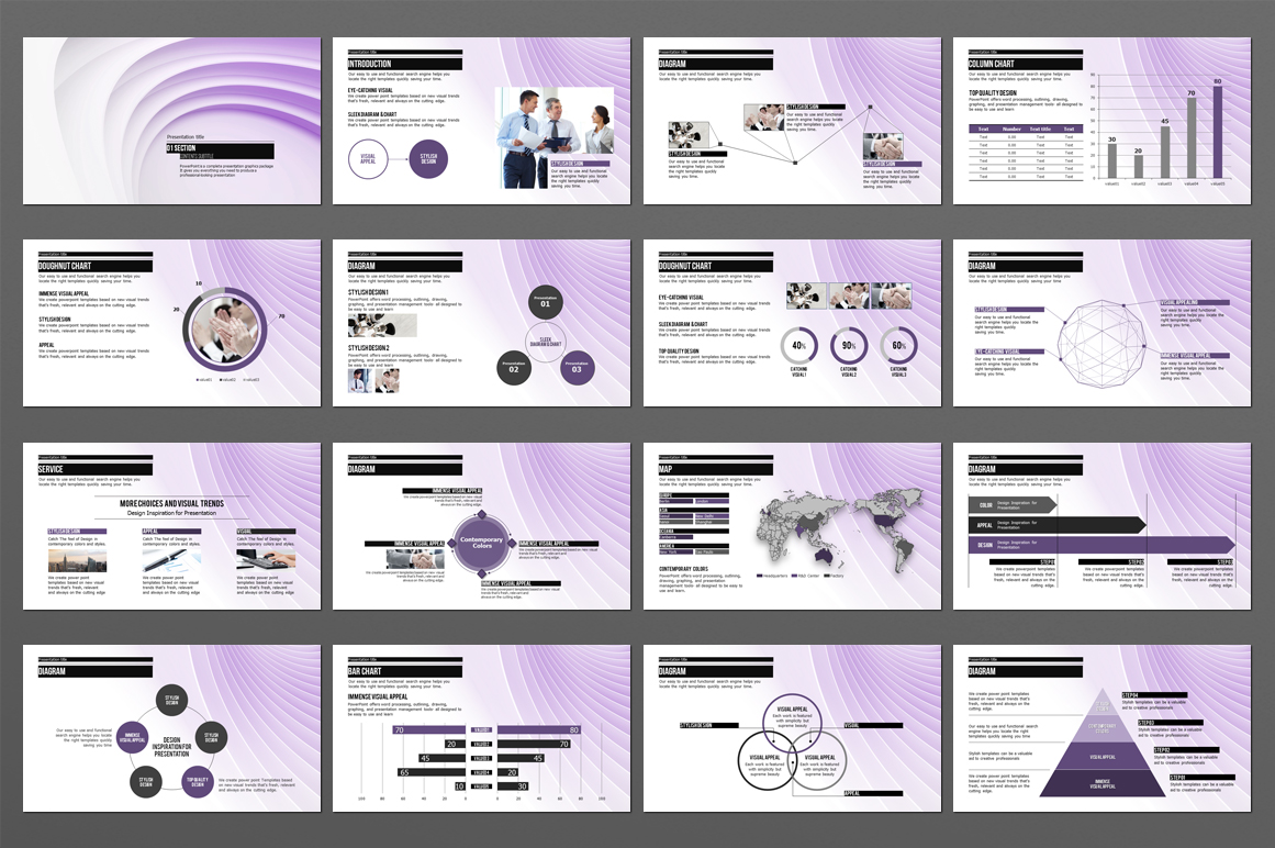 Abstract PowerPoint Template example image 4