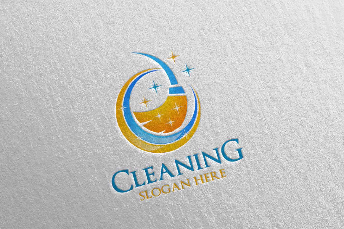 Cleaning Service Vector Logo example image 2