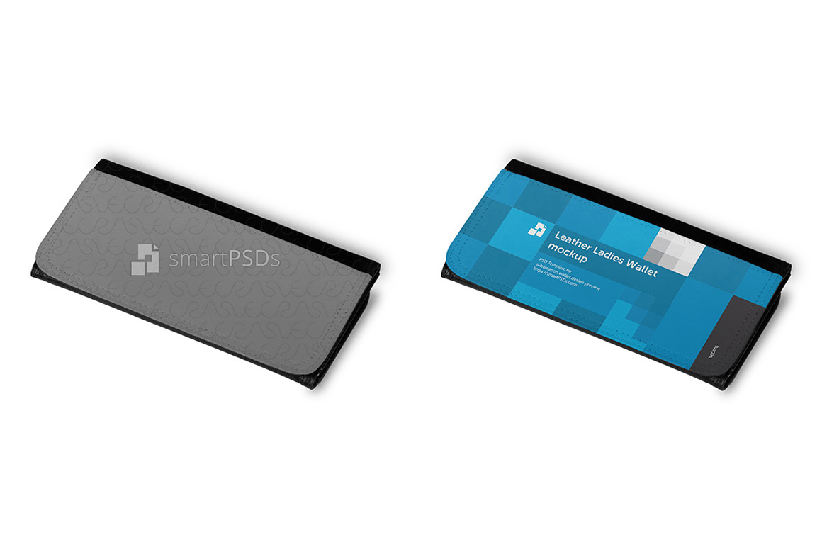 Leather Ladies Wallet for Sublimation Print Design Mockup - 6 Views example image 3