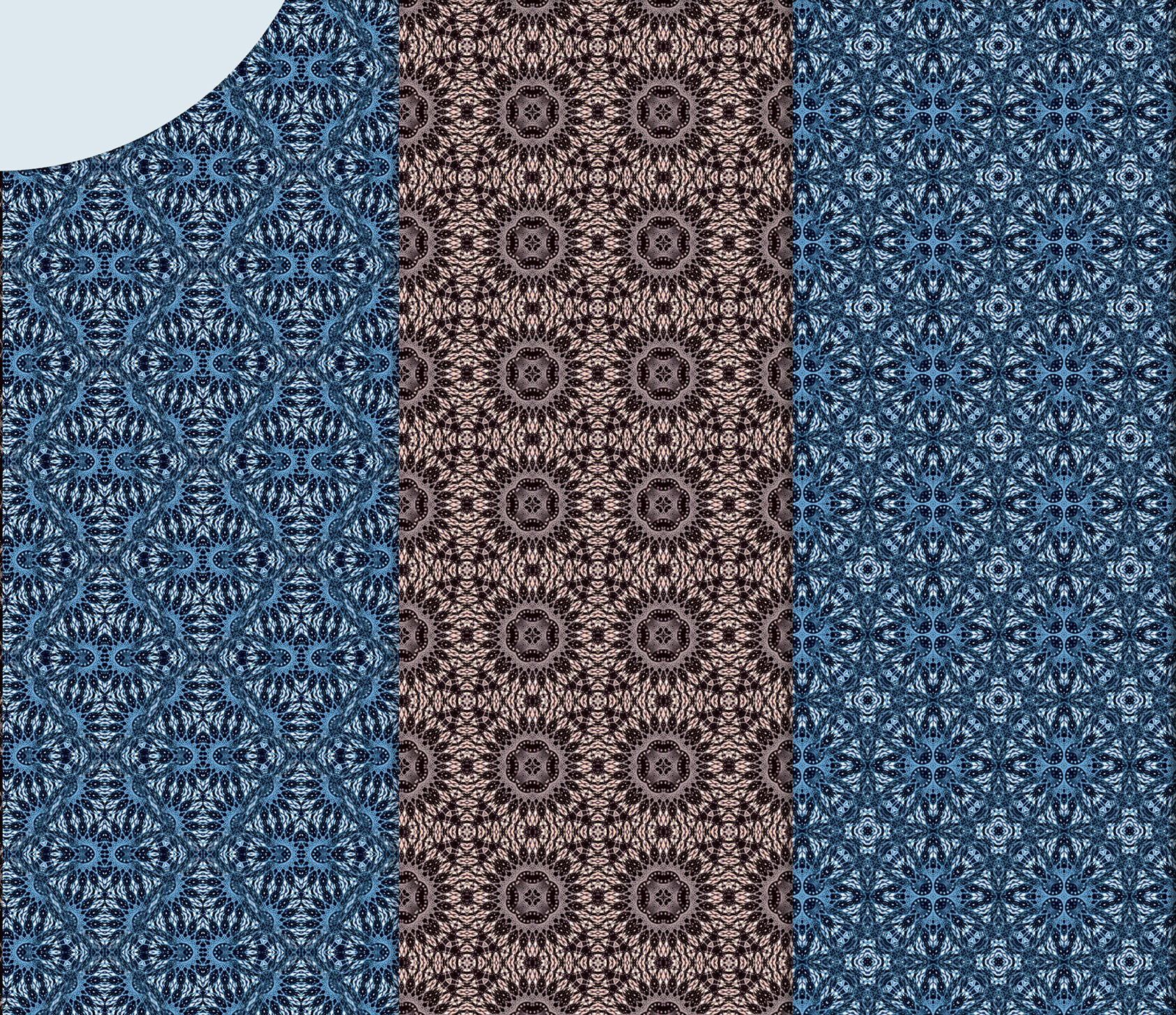 Beige and blue abstract, knitted patterns, Scrapbook Paper example image 5