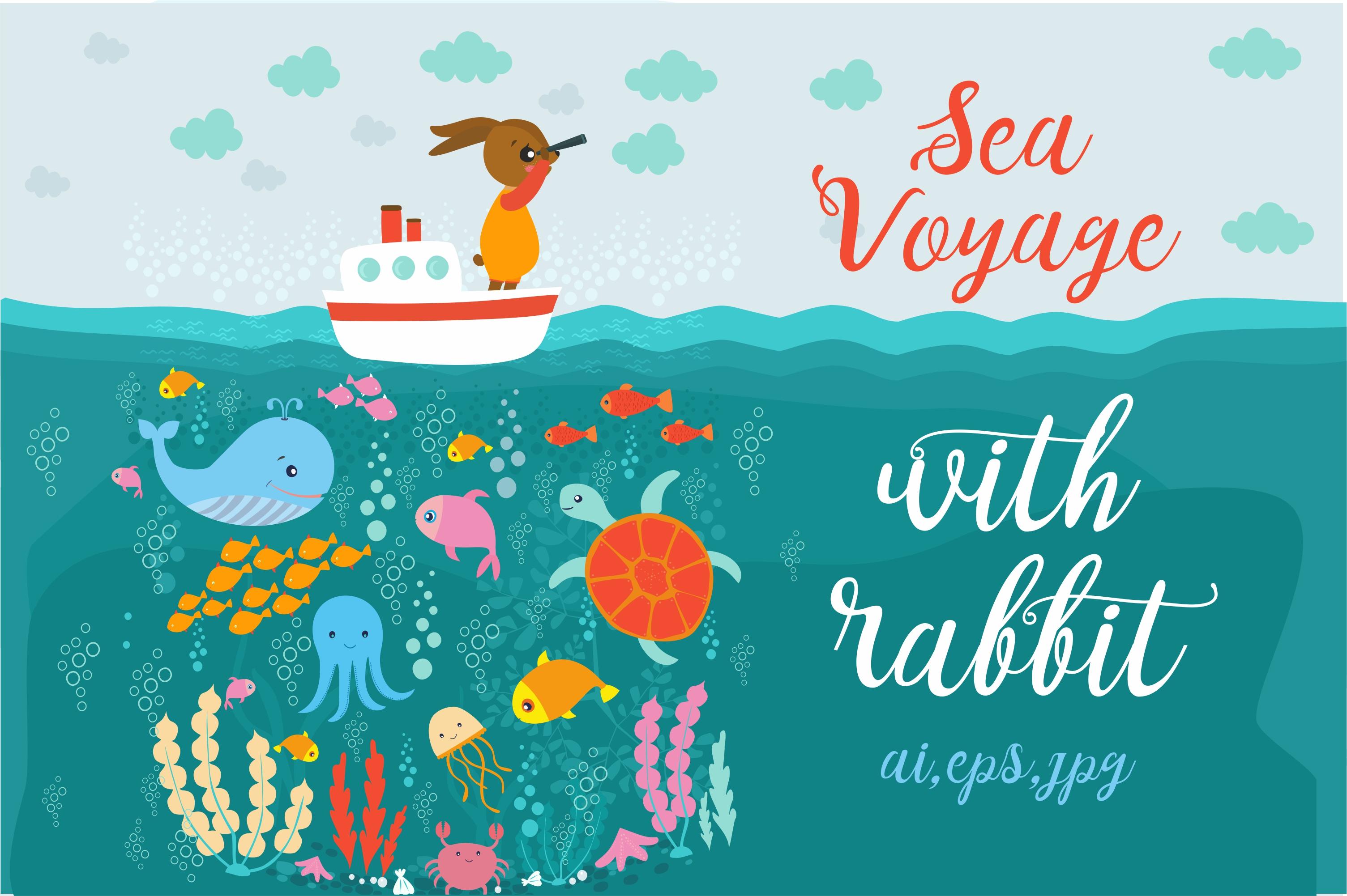 Sea Voyage with rabbit example image 1